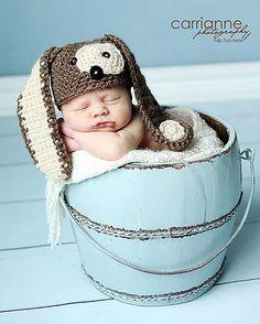 Ravelry: Puppy Hat (Multiple Sizes) pattern by RAKJpatterns/Kristi Simpson