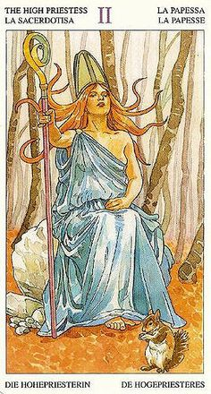 II. The High Priestess - Sorcerers Tarot by Antonella Castelli