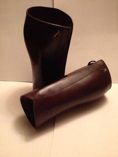Vintage leather gaitors