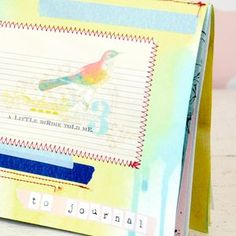 Spritzed and Stitched Journal Book
