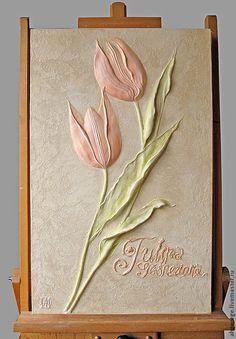 Картины цветов ручной работы. Ярмарка Мастеров - ручная работа Тюльпаны Джеснера (цвет). Handmade.