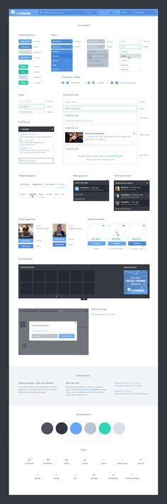 Isis Friends UI Kit & Homepage by Zach Kelly for Octopus Creative