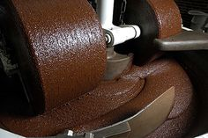 Cocoa Beans Being Ground Into Chocolate Couverture (Photo courtesy of ScharffenBerger Chocolate)