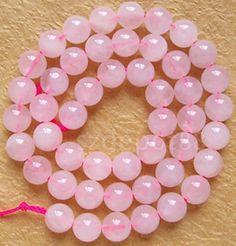 "8mm Rose Quartz Round Gemstone Loose Beads Strand 16"" in Crafts, Beads, Gemstone | eBay"