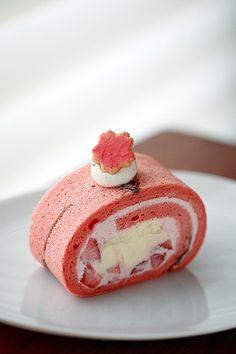 Sakura Roll Cake「桜のスフレロール」| Pâtisserie R ♥ Dessert