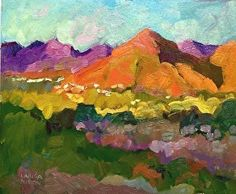Larisa Aukon, View from Paradise Valley by Larisa Aukon Oil ~ 10 x 12