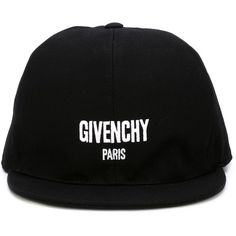 Givenchy embroidered logo cap ($405) ❤ liked on Polyvore featuring accessories, hats, black, cotton cap, givenchy cap, snapback hats, givenchy and snap back hats