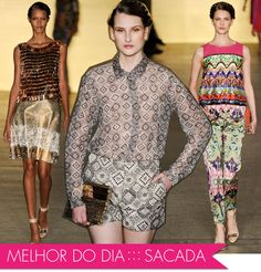 Os melhores, primeiro dia, Fashion Rio, verão 2013, Sacada, Oh Boy!, coleção, make, maquiagem, glitter, bordado texturas, blush, sombra