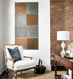 Ceramic Tile Wall Art | Click Pic for 36 DIY Wall Art Ideas for Living Room | DIY Wall Decorating Ideas for the Home