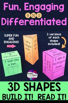 3D Shapes have never been this much fun! Tons of options for you to help your students explore and understand 3D shapes and their properties.