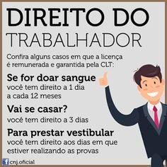 AG - Araújo Gonçalves Advocacia: Licenças remuneradas Law School, High School, Leis, Learning Games, Home Schooling, School Hacks, Student Life, Thing 1, Digital Marketing