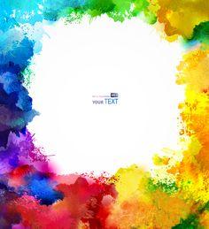 Multicolor watercolor splash background illustration vector 02 free