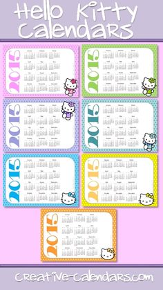 2015 calendars with hello kitty free instant download more free hello ...