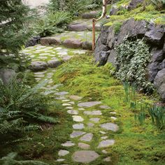 Fieldstone path with flair