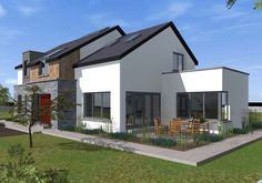 Two Storey Dormer Dwelling House Two Storey House Plans, New House Plans, House Designs Ireland, Old School House, New Home Designs, Building A House, New Homes, Houses, Residential Architecture