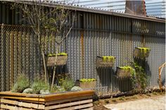 I seem to have a real thing for corrugated/patterned metal these days...