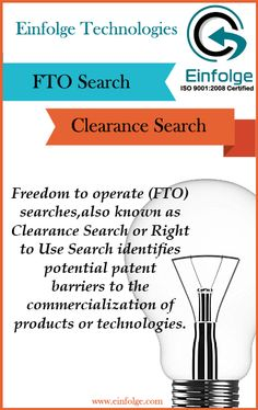 Freedom to Operate (FTO) Search