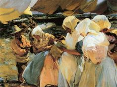 Joaquín Sorolla y Bastida(1863ー1923 a Spanish painter)「pescivendole valenciane」(1906)