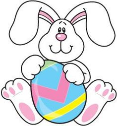 easter bunny holding a big easter egg easter clipart ideas rh pinterest com easter rabbit clip art in black and white easter rabbits clipart free