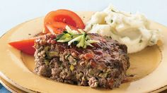 Zucchini Meat Loaf - Add nutrition in disguise—kids might eat that green veggie when it's mixed in a tasty meat loaf. Beef Dishes, Food Dishes, Main Dishes, Hamburger Dishes, Veggie Dishes, Pasta Dishes, Side Dishes, Orzo, Zucchini Meatloaf
