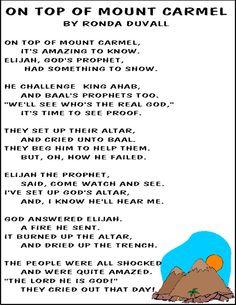 Hands On Bible Teacher: Elijah song