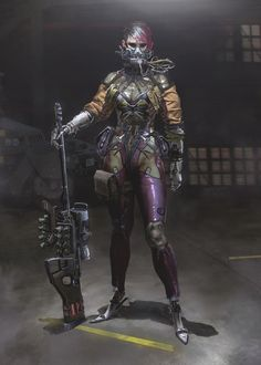 ArtStation - command and conquer redesign, yuri virus sniper, yintion J Character Concept, Character Art, Concept Art, Character Reference, Character Ideas, Cyberpunk Character, Cyberpunk Art, Fallout, Combat Armor