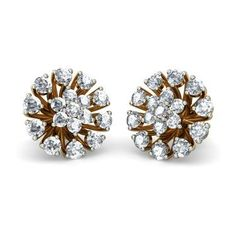 The Karvi Earrings Is A Certified Diamond Earring In Gold It Available For Money Back Lifetime Exchange Cod