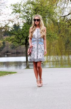 "Blogger Cara Mcleay from A Fashion Love Affair in our ""Sharlot"" Floral Print Dress and ""Aya"" Heels.  http://www.afashionloveaffair.com"
