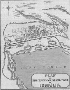 EGYPT: Suez Canal: Plan of Suez & Ismailia port, 1869 map
