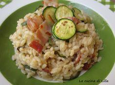La cucina di Lilla (adessosimangia.blogspot.it): Riso e risotti: Risotto al the verde, zucchine e p...