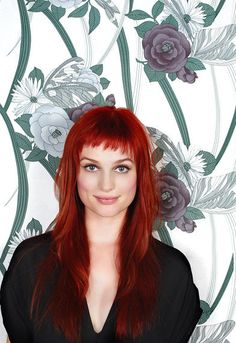 Oh my my my, the bangs, the shag, it's lovely, as is the color but I'm too lazy to keep up with the red.