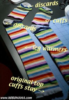 Hobo Mama: How to make your own baby leg warmers