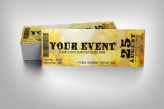 Party event ticket by studioweb on @creativemarket