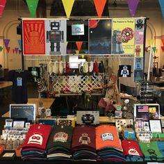 Stop by and check out Robot gear at the Rhode Island Maker Faire! #makerfaire #handmade #maker #makersmovement #robot #robots #vintagerobot #retrorobot #foofest #as220 #robotgear (at AS220's Foo Fest)