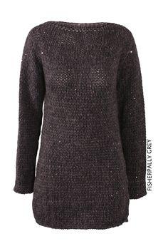 Fisherpally Grey von KD Klaus Dilkrath #kdklausdilkrath #kd #dilkrath #kd12 #outfit #pullover #pailette #grey #cozy