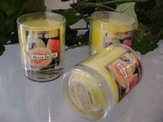3 oz Votive Tumbler Melon Delight Scent Candle by Unique Aromas. $17.18. Candle color may vary from photograph. Melon Delight scent. Price per jar candle. This candle is sure to bring joy and warmth to all those in the presence of it.Some assembly may be required. Please see product details.Some assembly may be required. Please see product details.