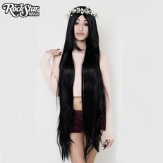 "Cosplay Wigs USA™ <br> Straight 120cm/47"" - Black Mix -00232"