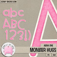 Monster Hugs {Alpha 1} by Jen Yurko Designs!  Grab this adorable and fun alpha set while it's 25% off, or grab the bundle for huge savings!