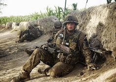 A Soldier From 1 Rifles Rests Following an Engagement with the Enemy in Afghanistan by Defence Images, via Flickr