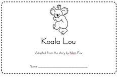 koala lou activities - Google Search Sequencing Activities, Writing Activities, Picture Story Books, School Craft, Emergent Readers, Author Studies, Australian Animals, Reading Workshop, Book Themes