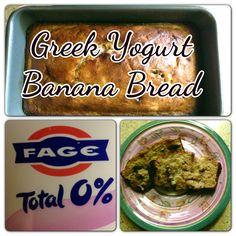 To Diet For!  Fabulous Greek Yogurt Banana Bread Recipe