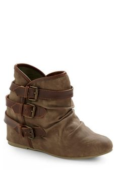 Buckle Down, Cowgirl Up Bootie, #ModCloth