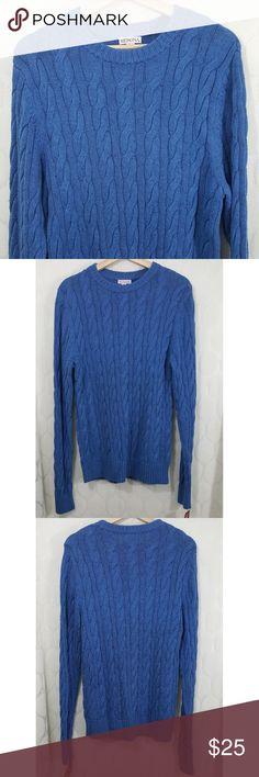 NWT Merona Wool Cable Knit Sweater NWT Merona Wool Blend Cable Knit Sweater in blue. Size M. Smoke free home. Merona Sweaters Crewneck