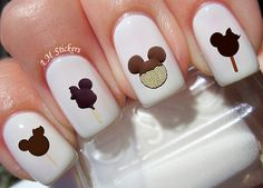 96 Mickey Ice Cream Nail Decals by AMnails on Etsy