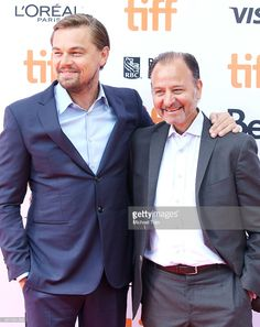 Leonardo DiCaprio (L) and Fisher Stevens arrive at the 2016 Toronto…
