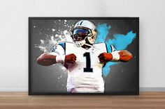 Cam Newton   Carolina Panthers  Football Poster by TroutLifeStudio
