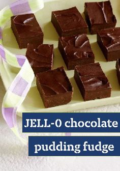 JELL-O Chocolate Pudding Fudge -- One surefire way to get the smoothest, creamiest microwave fudge ever? Add some JELL-O Chocolate Pudding. That's the secret to this easy chocolate dessert recipe.