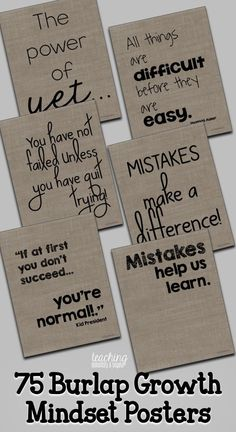 Provide inspiration for for your kids! These chalk growth mindset posters are full of quotes to help motivate and change the perspective of your students! These will look great on your bulletin boards in your classroom and can help your students Classroom Quotes, Classroom Posters, Classroom Design, Future Classroom, School Classroom, Classroom Themes, Classroom Environment, School Office, Holiday Classrooms
