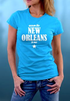 Excuse The New Orleans In Me Premium quality tees, tanks and hoodies from BadBananas. Flat rate shipping worldwide.