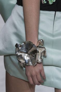 Sculptural Bangle - statement jewellery with beautifully formed folds, both bold & delicate; wearable art // Giambattista Valli
